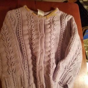 New W Tag Gymboree 12-18 mi lavendar sweater!